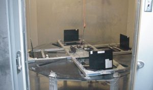 Figure 11. Dust test chamber accommodates active/passive testing.