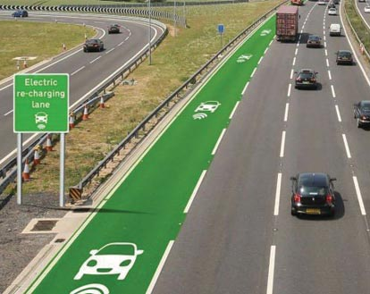 High-tech Highways Could Charge Electric Cars While Driving